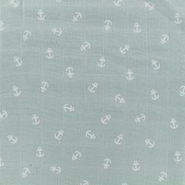 Tissu double gaze de coton Anchor -  eau de pluie x 10cm