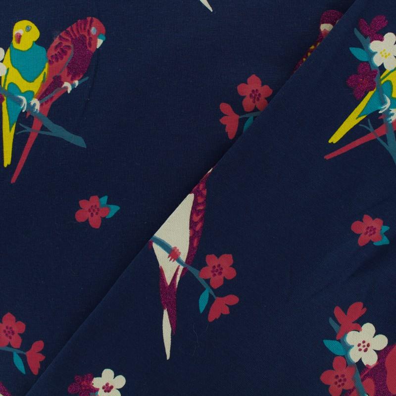 Qjutie kids sparkles jersey fabric bird x 10cm for Children s jersey fabric