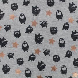 Qjutie kids Copper Light sweat fabric - monsters x 10cm