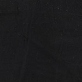 Tissu coton lavé - noir charbon x 10cm