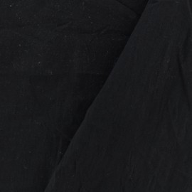 Washed cotton fabric - charcoal black x 10cm