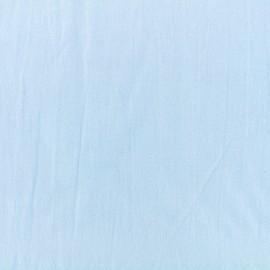 Tissu coton lavé - bleu vague x 10cm