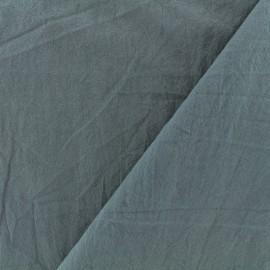 Tissu coton lavé - gris bleu x 10cm
