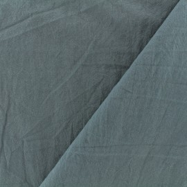 Washed cotton fabric - grey blue x 10cm