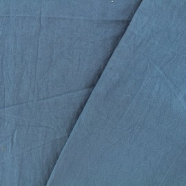 Washed cotton fabric - blue swell x 10cm