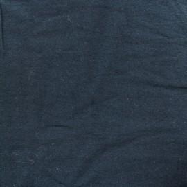Tissu coton lavé - marin x 10cm