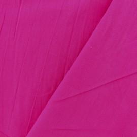 Tissu coton lavé - camélia x 10cm