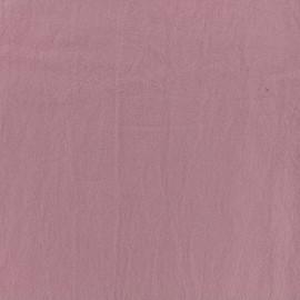 Tissu coton lavé - rose quartz x 10cm