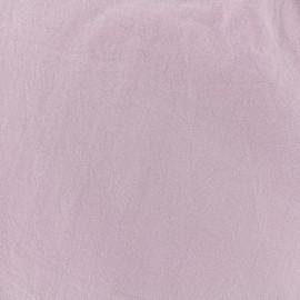 Tissu coton lavé - eau de rose x 10cm