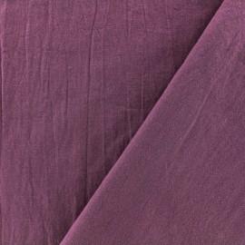 Tissu coton lavé - figue x 10cm