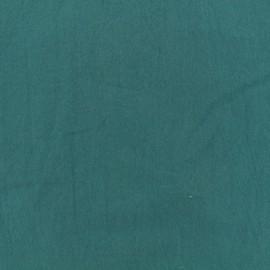 Tissu coton lavé - paon x 10cm