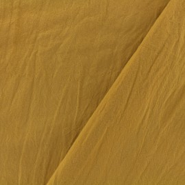 Washed cotton fabric - honey x 10cm