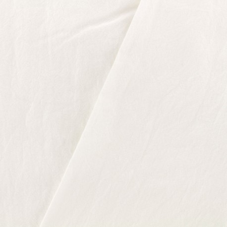 Tissu coton lavé - milk x 10cm