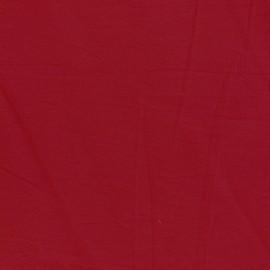 Tissu coton lavé - rouge bisou x 10cm