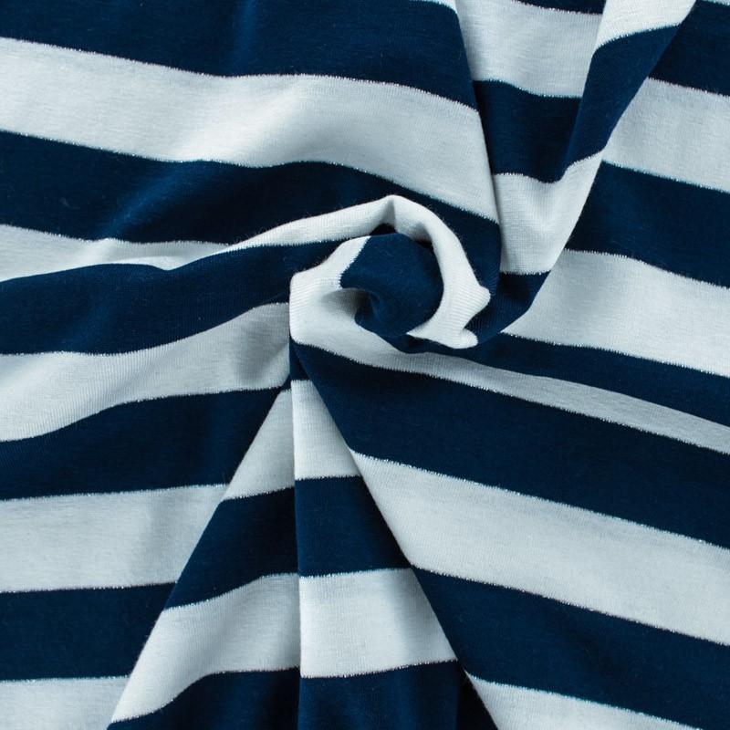 tissu mode tissu jersey alinea l en bleu et blanc. Black Bedroom Furniture Sets. Home Design Ideas