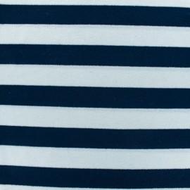 Tissu jersey Alinea L - bleu/blanc x 10cm