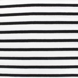 Tissu jersey Alinea M - noir/blanc x 10cm