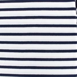 Tissu jersey Alinea M - bleu/blanc x 10cm