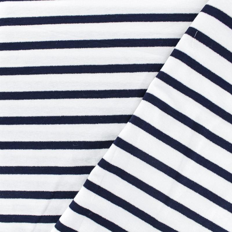 tissu mode tissu jersey alinea m en bleu et blanc. Black Bedroom Furniture Sets. Home Design Ideas