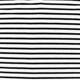 Alinea S Jersey fabric - black/white x 10cm