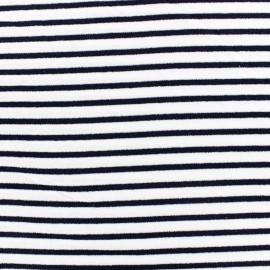 Tissu jersey Alinea S - bleu/blanc x 10cm