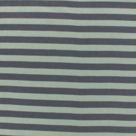 Tissu Oeko-Tex Jersey bio Linie - gris/menthe x 10cm