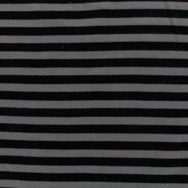 Tissu mode Oeko-Tex Jersey bio Linie - gris/noir x 10cm