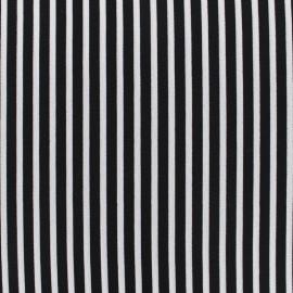 Tissu crêpe Rayos - noir x 10cm