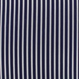 Tissu crêpe Rayos - bleu x 10cm