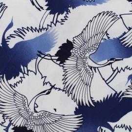 Tissu viscose Asia - bleu x 14 cm