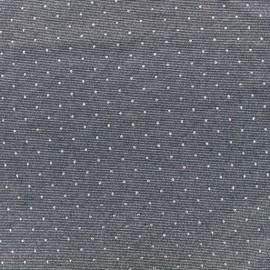 Tissu jersey viscose fluide - gris/argent x 10 cm