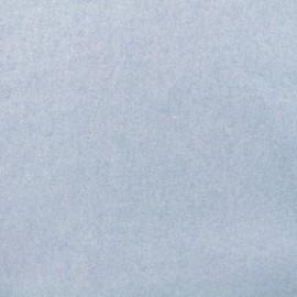 Tissu Bio Polaire Coton - bleu x 10cm