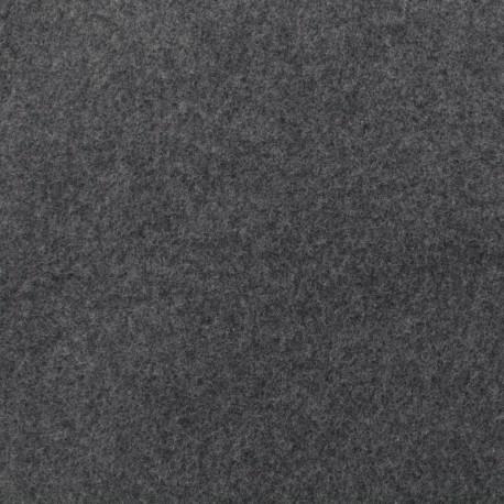 Tissu Bio Polaire Coton - gris x 10cm