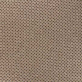 Tissu Suédine élasthanne Clouté antidérapant - tabac x 10cm