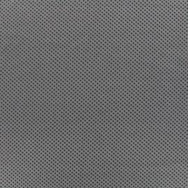 Tissu Suédine élasthanne Clouté antidérapant - gris x 10cm