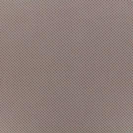 Suede elastane non slip studded fabric  - pink x 10cm