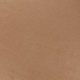 Suede elastane non slip studded fabric  - havana x 10cm