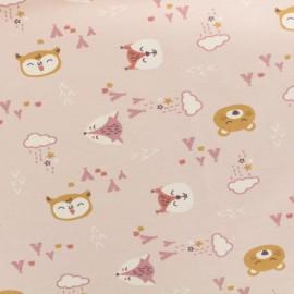 Tissu Oeko-Tex Jersey Lovely teepee - rose x 10cm