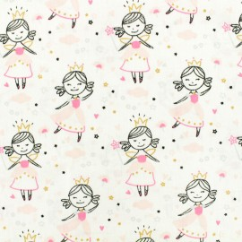 Oeko-Tex Cotton fabric Lovely Dancer - white x 10cm