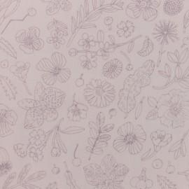 Tissu coton Rico Design Hygge Fleurs métalisées - rose x 10cm