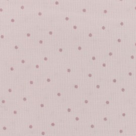 Rico Design cotton fabric Hygge Metallic Dots - pink x 10cm