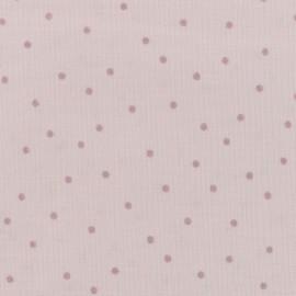 Tissu coton Rico Design Hygge Points métallique - rose x 10cm