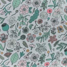 Tissu coton Rico Design Hygge Fleurs fluo - lilas x 10cm