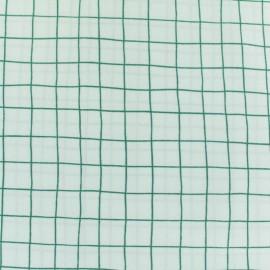 Tissu coton Rico Design Hygge Carreaux verts - blanc x 10cm