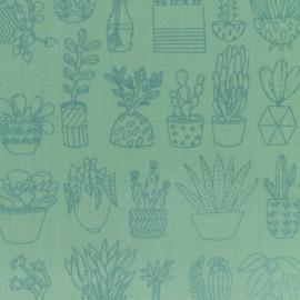 Tissu coton Rico Design Hygge Cactier - vert x 10cm
