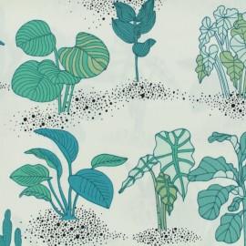 Tissu coton Rico Design Hygge Plantes - milk x 15cm