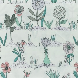 Tissu coton Rico Design Hygge Plantes et Herbes - milk x 15cm