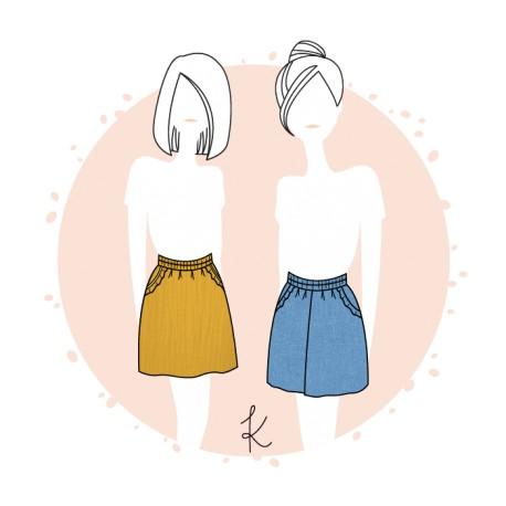 Sewing pattern Anne Kerdilès Skirt/Short - Formentera