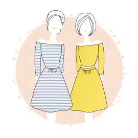 Sewing pattern Anne Kerdilès Dress - Lisbonne