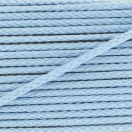 Cotton cord, color-fast - sky blue